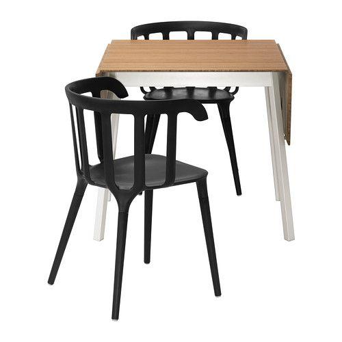IKEA - IKEA PS 2012 / IKEA PS 2012, Table et 2 chaises,  ,  , , Plateau de table en bambou, un matériau très résistant.Grâce à sa petite taille, la table peut s'utiliser partout, même lorsque l'espace est restreint.Une personne seule peut déployer la table pour accueillir de 2 à 4 personnes.Les accoudoirs offrent un grand confort d'assise.Le dossier galbé offre un grand confort d'assise.