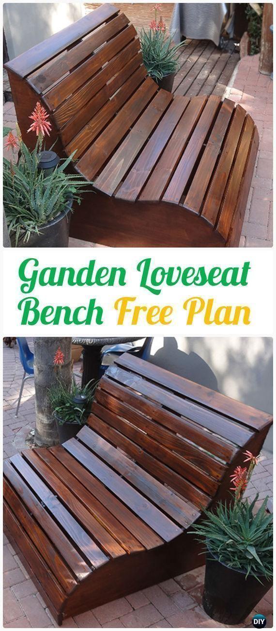 DIY Garden Slat Bench Loveseat Instructions