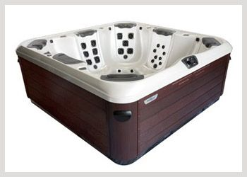 Bullfrog A8  There is space to spare. The A8 is an 8-person hot tub that sets the standard for space and seating capacity. With its comfortable open layout and 6 JetPaks of your choice you will enjoy a selection of massages to suit everyone. In addition, the uniquely contoured foot therapy dome provides a personalized foot massage, no matter where you happen to be relaxing in this spaciously large hot tub. #WheatlandFireplace #BullfrogSpas