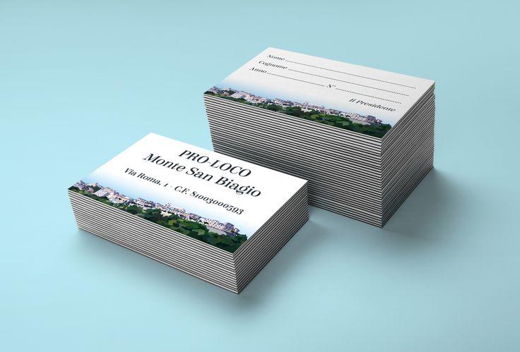Realizzazione grafica e stampa tessere per iscrizione alla PRO-LOCO di Monte San Biagio (LT)