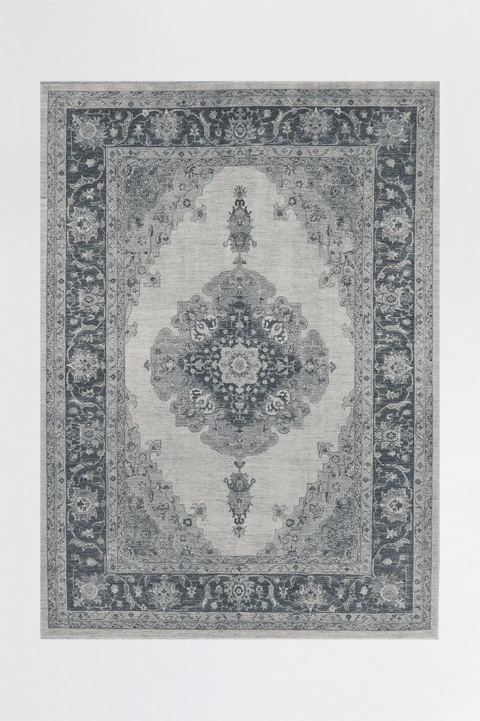 Antique Traditional Rug Design Ruggable 2pc Rug System  Cover Attaches to Pad Surface with Cling Effect™ Technology Custom Nonslip Rug Pad Required Covers are Washable & Interchangeable  Wash/Dry Covers in Home Washing Machine Rug Pad Washed Separately