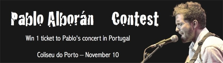 WIN 1 ticket to see Pablo Alborán in Portugal!