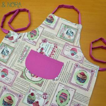 Delantal Cupcake, original y divertido para tus platos más dulces... Ya lo tenemos en nuestra tienda online www.nicaynora.com