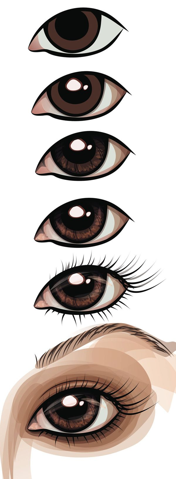Poster design using coreldraw tutorial - Vector Art Digital Illustration Tutorial Of Drawing An Eye Always Great To See How Something Is Done In Illustrator The Eye Is Extremely Detailed And