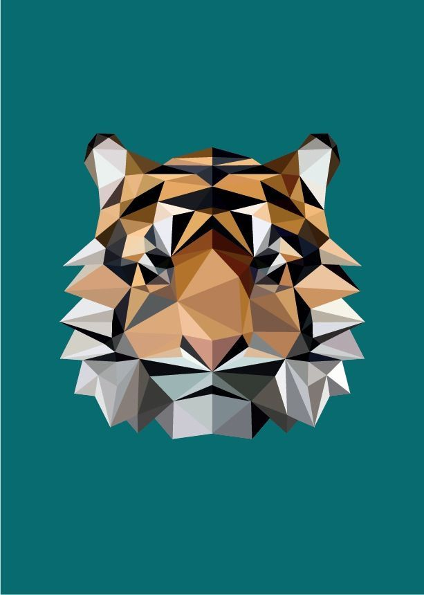 awesome Geometric Tattoo - Mr Wolf & Co. - Geometric Tiger Print Check more at http://tattooviral.com/tattoo-designs/geometric-designs/geometric-tattoo-mr-wolf-co-geometric-tiger-print/