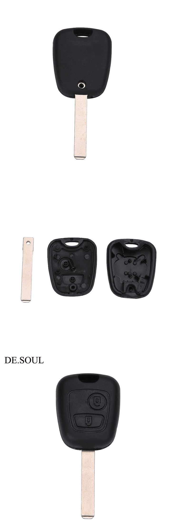 DE.SOUL 2Button Remote Car Key Case For Citroen C1 C2 C3 / Pluriel C4 C5 C8 / Xsara Picasso Cover Key Shell Blank with Screw