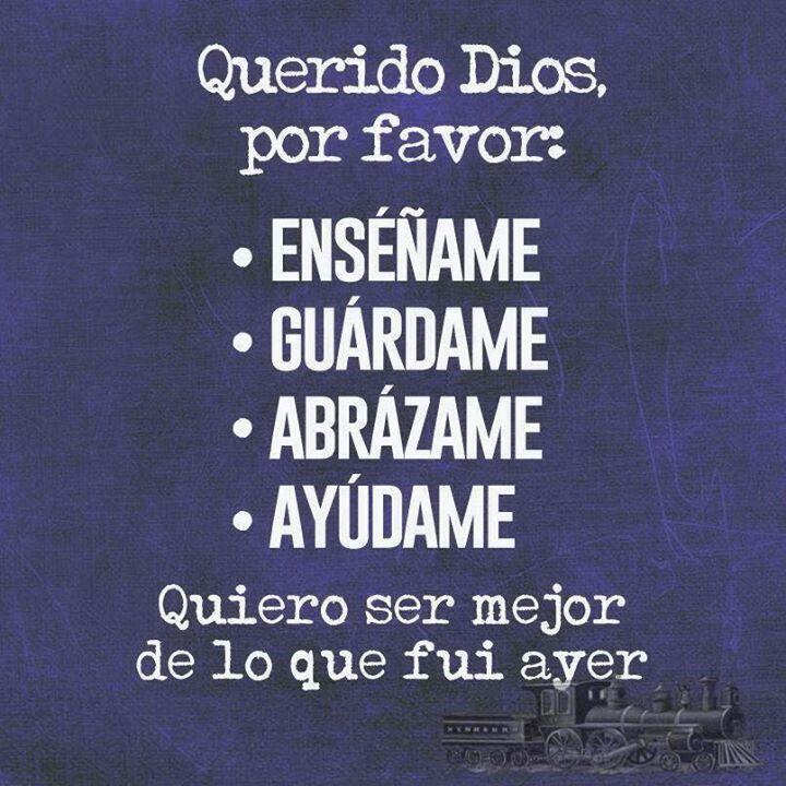 Querido Dios por favor...........