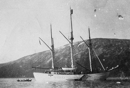 "Polar El barco ""Maud"" en Tromsø,"