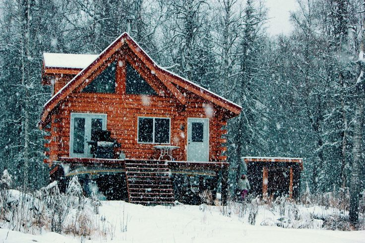 Alaskan Cabin in the Woods