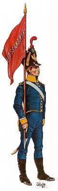 """1815 Sergente portaguidone, Reggimento di fanteria """"Alessandria"""""""