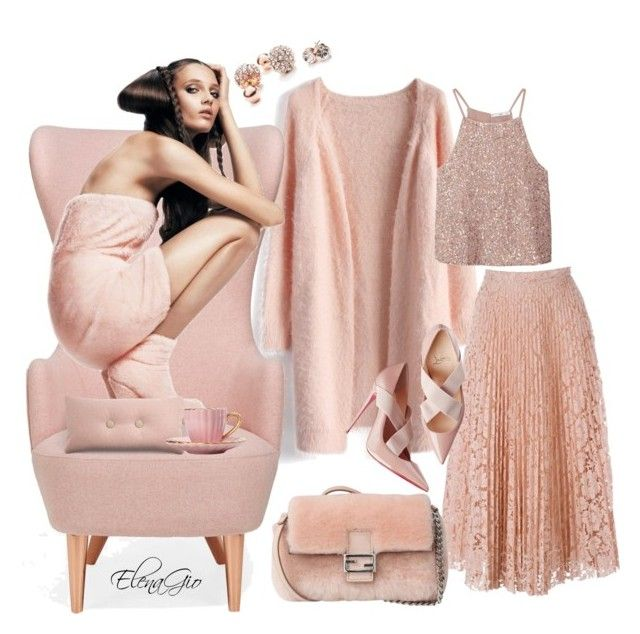 poudre by elenagio on Polyvore featuring Chicwish, MANGO, Valentino, Fendi, GUESS and Tom Dixon