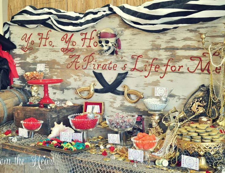 """Pirates of the Caribbean / Birthday """"Amber's 8th birthday Pirate Parrrrrrrty"""" 