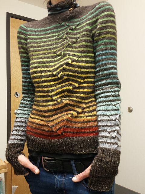 "knittingfornerds: "" stripes with a twist pattern by atelier alfa…"