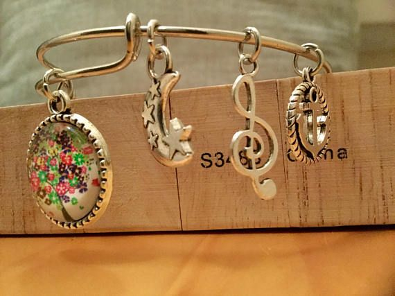 Tree of Life  Charms Bracelet Adjustable Wire Bangle