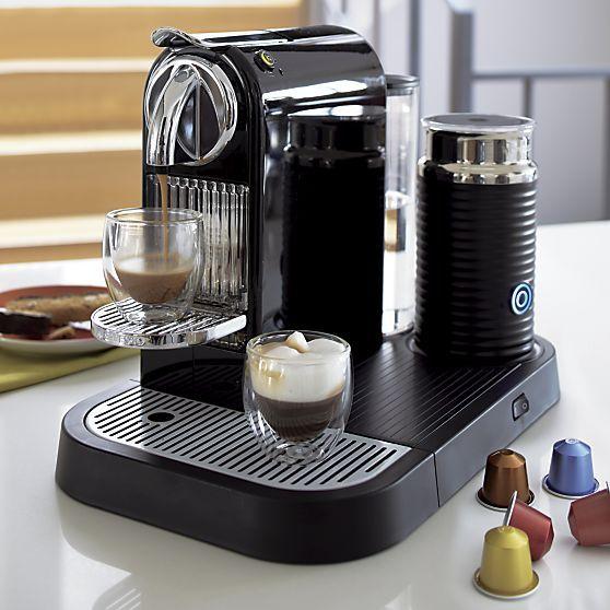 Nespresso® Citiz Black Espresso Machine with Aeroccino Frother in Espresso Makers | Crate and Barrel