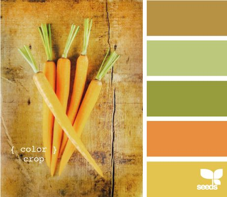 Incorporate a crop of wholesome colors into your kids room with a shade or two from this 'color crop' paint palette.