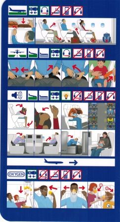 British airways airbus a380 safety briefing card from - China southern airlines london office ...