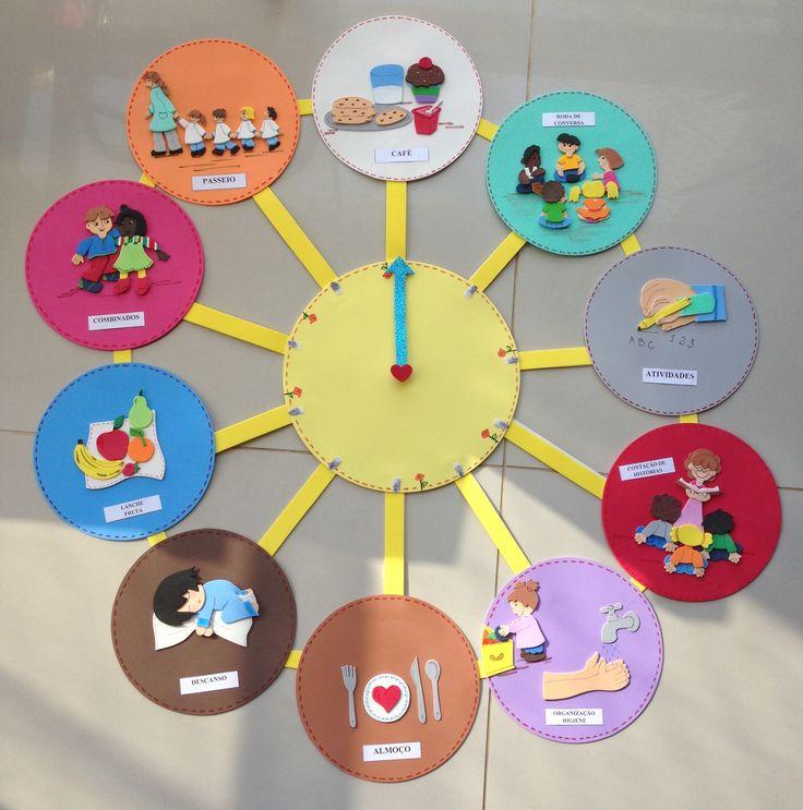 Relógio de Rotinas de Sala de Aula