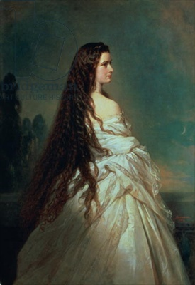 Elizabeth of Bavaria (1837-98), wife of Emperor Franz Joseph I of Austria (1830-1916) (oil on canvas)