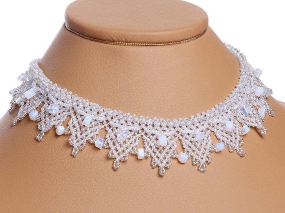 Traditional Ukrainian Folk Handmade Beaded Necklace by koraliky