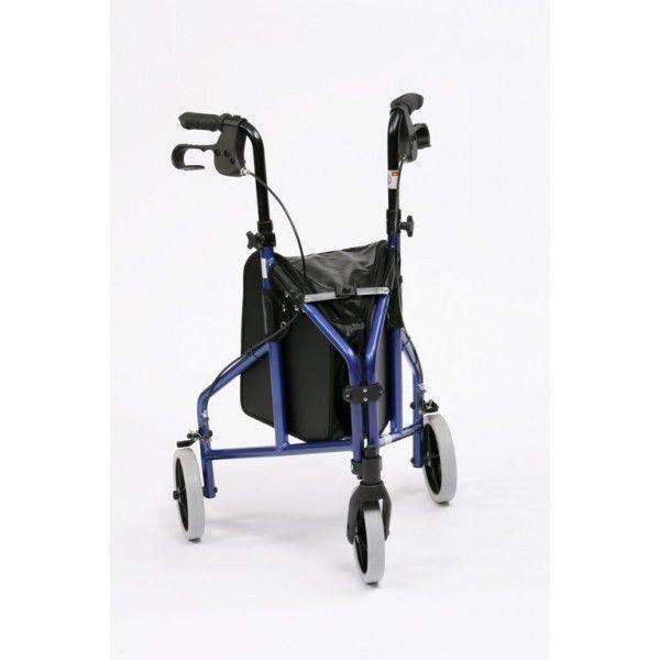 Andador 3 Ruedas de Aluminio con bolsa   Andadores para adultos