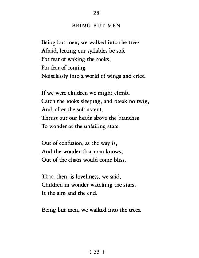 Being but men - Dylan Thomas