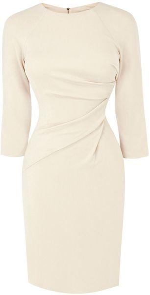 KAREN MILLEN Draped Front Jersey Dress - Lyst