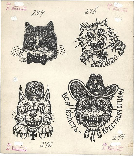 Russian Criminal Tattoo Drawing_6010 by Eye magazine, via Flickr