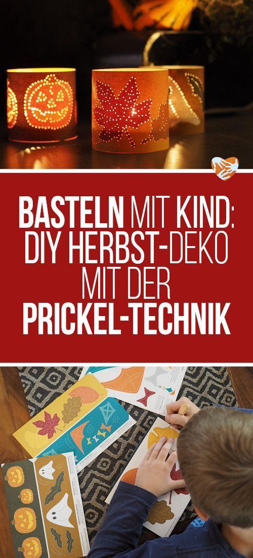 Basteln Mit Kind: Prikeln | Herbstliche DIY Deko Selbstgemacht Mit Der  Wiederentdeckten, Alten Prickel Technik