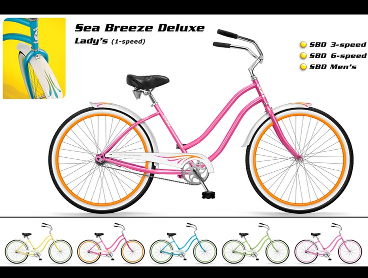 Phat Cycles  Beach Cruisers Phundamental Bicycles  Sea Breeze Deluxe Lady