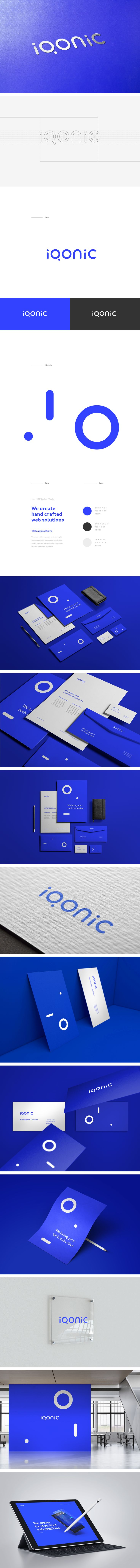 """Check out this @Behance project: """"Iqonic - Logo / Identity"""" https://www.behance.net/gallery/56765407/Iqonic-Logo-Identity"""
