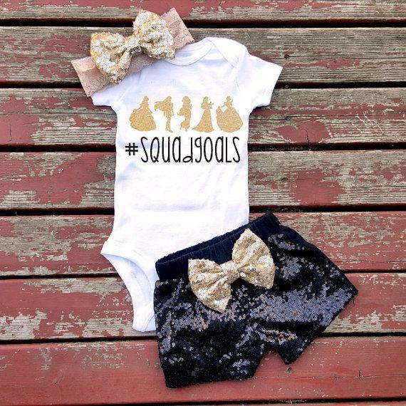 Squad Goals Princess Baby Girl Bodysuit Baby by GLITTERandGLAMshop
