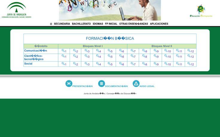 Formación Básica. Materiales del Portal de Educación Permanente de la Junta de Andalucía