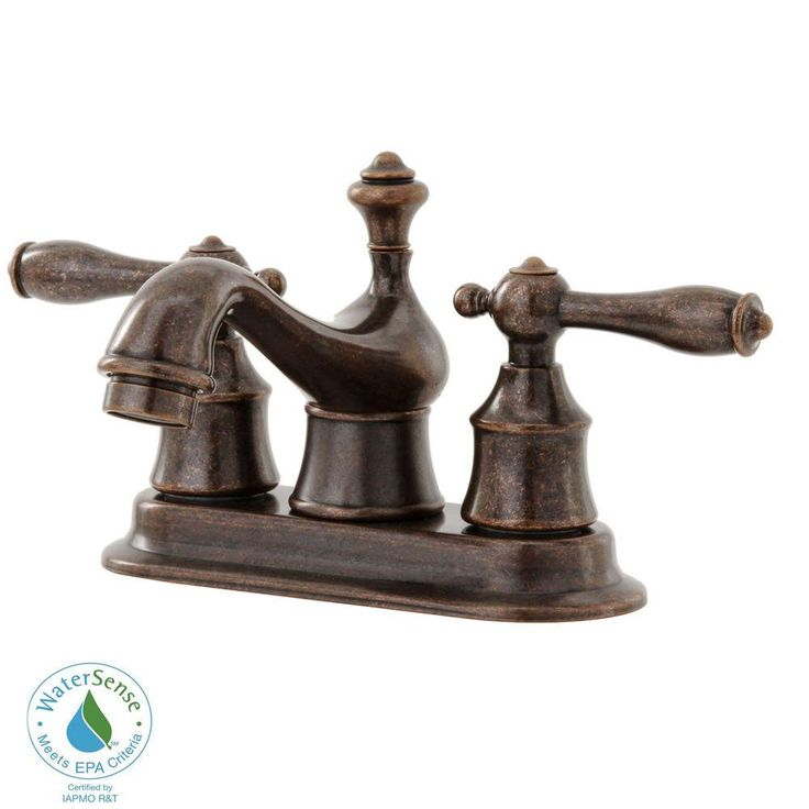 Pegasus Estates 4 In 2 Handle Low Arc Bathroom Faucet Heritage Bronze