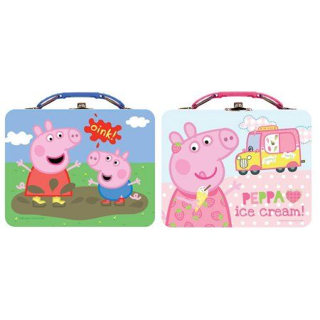 Tin Box Co Carry All Lg Peppa Pig Astd, Multicolor