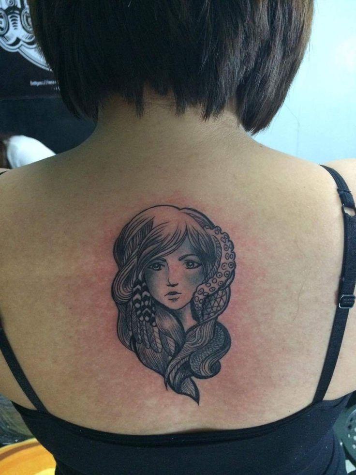 Virgo girl tattoo