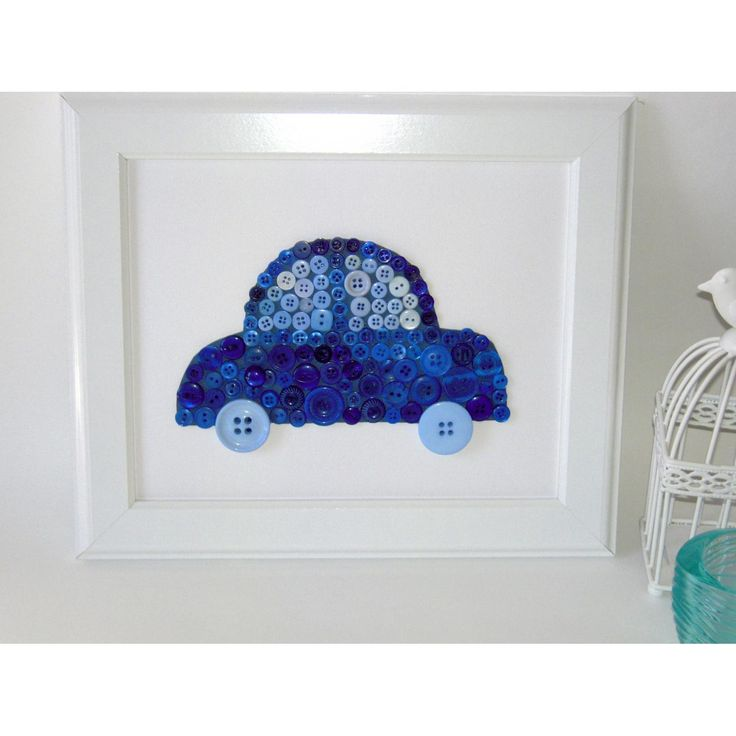 $25.00 Button Art Car by |  Mumma Who Makes |  on Handmade Australia