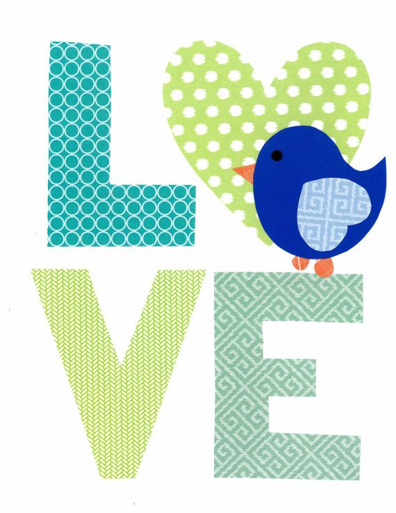 Love Nursery Artwork Print // Baby Room Decoration // Kids Room Decoration // Gifts Under 20 on Etsy, $14.00