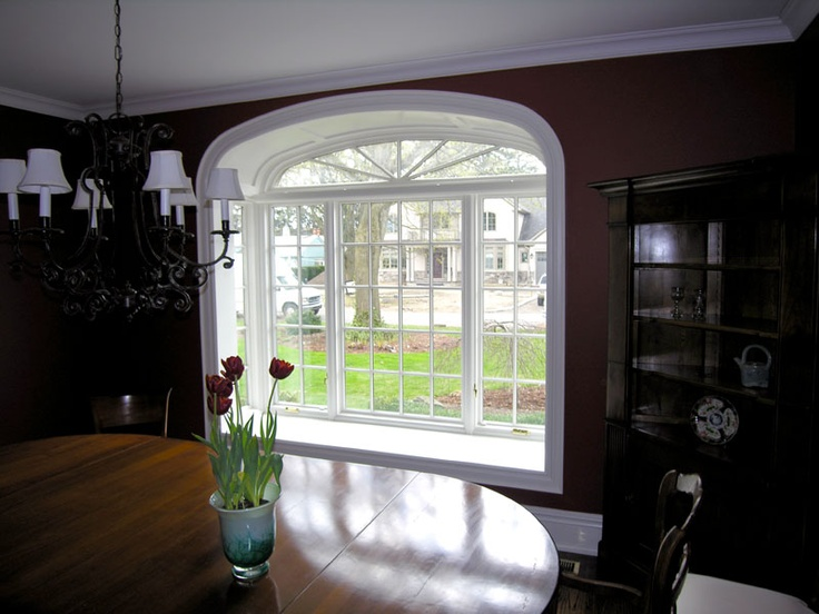 Square Bay Window With Elliptical Top Bay Windows