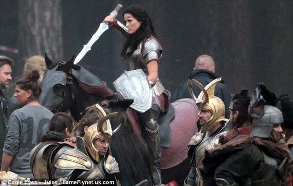 Sif on a horse