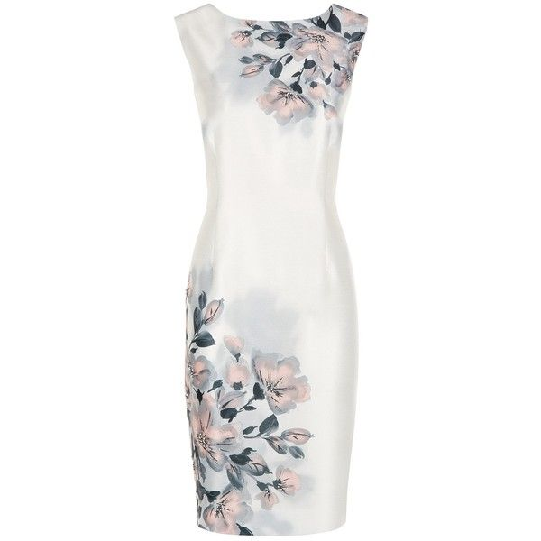 Jacques Vert Petite Blurred Floral Dress, Multi (7.845 RUB) ❤ liked on Polyvore featuring dresses, petite, sleeved maxi dress, open back maxi dress, ombre maxi dress, white floral dress and maxi dresses