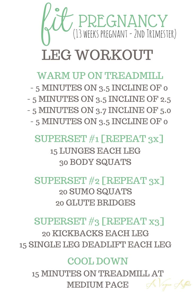 Fit Pregnancy - Second Trimester - Leg Workout