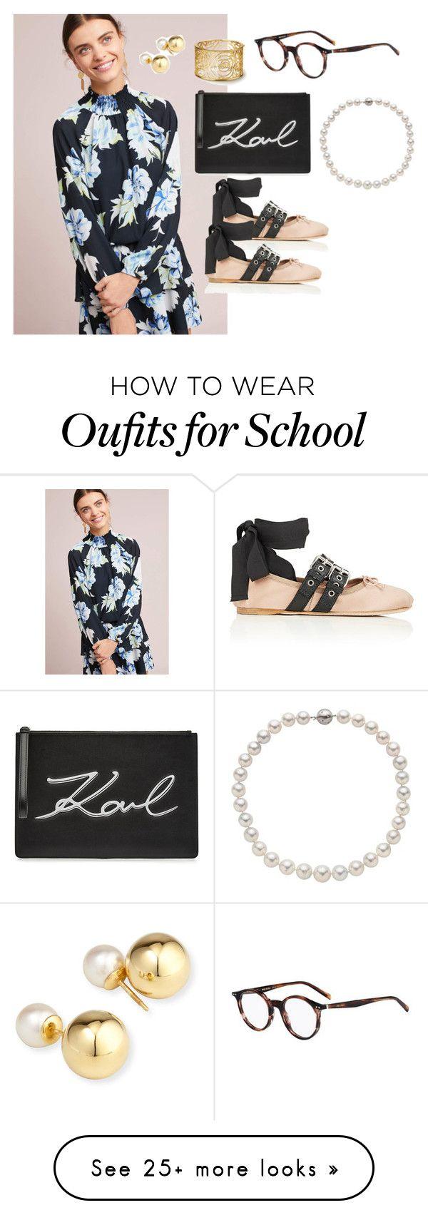 """School Dinner"" by design360 on Polyvore featuring Yumi Kim, Miu Miu, Karl Lagerfeld, CÉLINE and Yoko London"