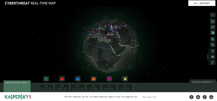 An interactive WebGL experience that dramatically brings to life every virus detection made by Kaspersky internet security software, happening at that very moment, all around the world.