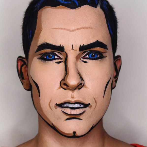 Turn yourself into an animated character like makeup artist Pompberry did. #refinery29 http://www.refinery29.com/2016/10/124960/cool-halloween-diy-makeup-ideas-photos#slide-23