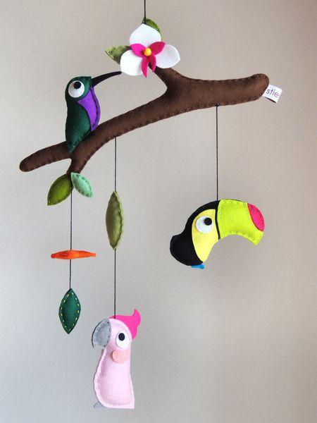 "Mobile ""Tropical Birds III"" von stierkind auf DaWanda.com"
