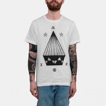 Taboo Magic Triangle Tshirt White Black & White