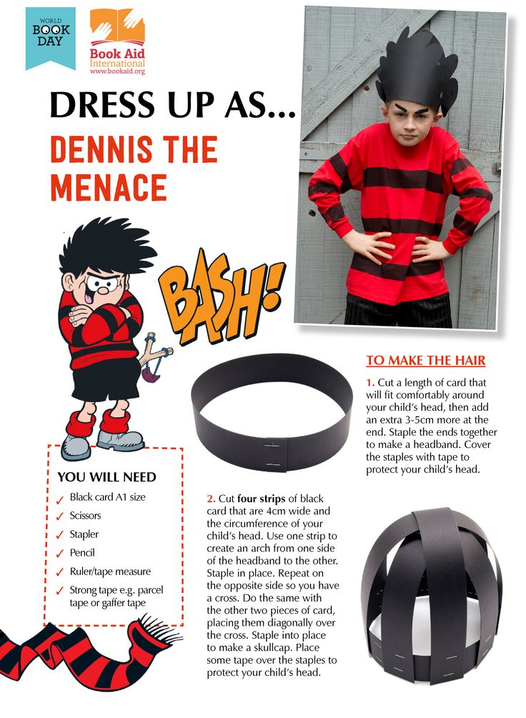 "Dress Up as ""Dennis the Menace"" - World Book Day DIY costume idea!"