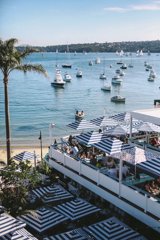 Beach waterfront wedding at Watsons Bay Boutique Hotel