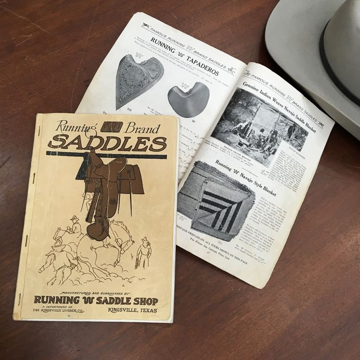 The First King Ranch Running WR Saddle Shop Catalog Circa 1923